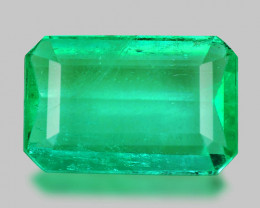2.19 Cts Natural Earth Mined Green Color Colombian Emerald Gemstone