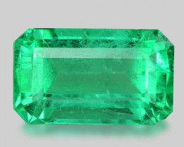1.92 Cts Natural Earth Mined Green Color Colombian Emerald Gemstone