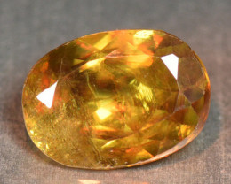 0.95 Cts Excellent Color Change  Orange Yellow Natural Sphene