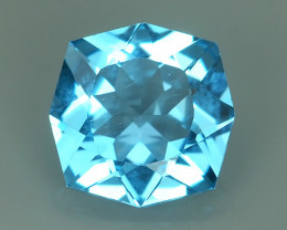 1.80 CTS~FINE QUALITY_LUSTROUS -NATURAL SWISS BLUE~TOPAZ -FANCY CUSION!!