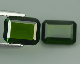 2.55 CTS NATURAL ULTRA RARE OCTAGON CHROME GREEN DIOPSIDE RUSSIA~