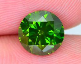 IGI Certified Diamond 1.49 ct Deep Green Color w Laser Inscription SKU-23