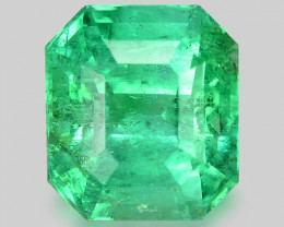 2.23 Cts Natural Earth Mined Green Color Colombian Emerald Gemstone