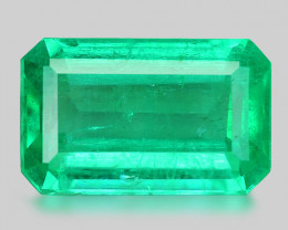 1.99 Cts Natural Earth Mined Green Color Colombian Emerald Gemstone