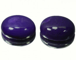 5.08Ct Natural Sugilite Oval Cabochon pair South africa
