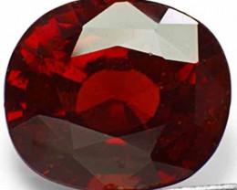 Sri Lanka Hessonite Garnet, 10.47 Carats, Intense Orangy Red Oval