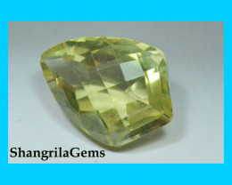 17mm Gold Green Citrine gemstone faceted