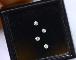 2.0mm D-F Brilliant Round VS Loose Diamond 4pcs / B