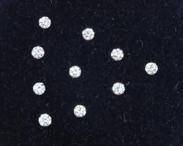 1.0mm D-F Brilliant Round VS Loose Diamond 10pcs / B