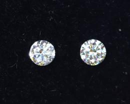 3.0mm D-F Brilliant Round VS Loose Diamond 2pcs