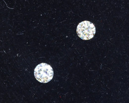 2.2mm D-F Brilliant Round VS Loose Diamond 2pcs / B