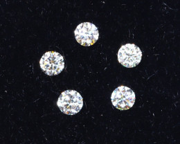 1.3mm D-F Brilliant Round VVS Loose Diamond 5pcs