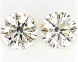 0.25 cts , Pair Round Diamonds , Light Color Diamonds , WR1200