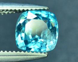AAA Brilliance 1.25 ct Blue Zircon Cambodia ~ K