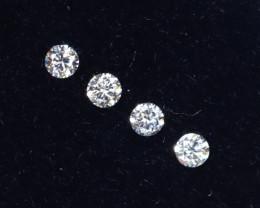 1.5mm D-F Brilliant Round VS Loose Diamond 4pcs