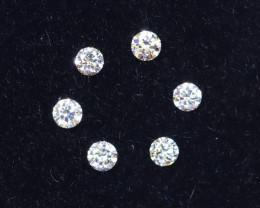 1.6mm D-F Brilliant Round VS Loose Diamond 6pcs / B