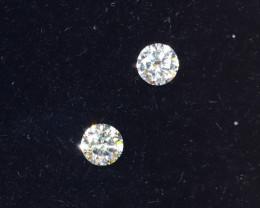 2.0mm D-F Brilliant Round VS Loose Diamond 2pcs