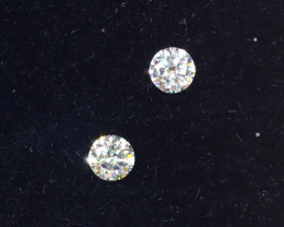 2.1mm D-F Brilliant Round VS Loose Diamond 2pcs / B