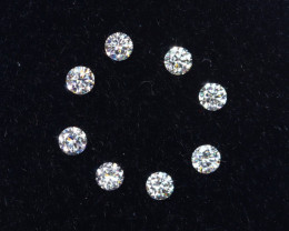 1.3mm D-F Brilliant Round VVS Loose Diamond 8pcs