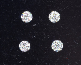 1.5mm D-F Brilliant Round VVS Loose Diamond 4pcs