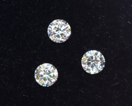2.3mm D-F Brilliant Round VS Loose Diamond 3pcs / B