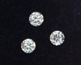 2.4mm D-F Brilliant Round VS Loose Diamond 3pcs / B