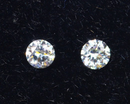 2.5mm D-F Brilliant Round VVS Loose Diamond 2pcs