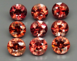 7.02 Ct. Natural Rich Pink  Zircon Cambodia - 9 ps