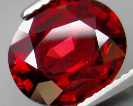 5.35Ct. Natural Top Red Rhodolite Garnet Africa Unheated