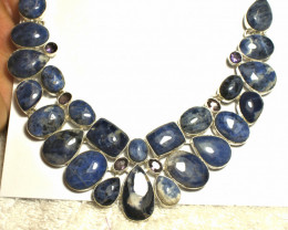 413.0 Sodalite, Sterling Silver Necklace - Gorgeous
