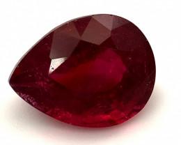 Rubellite 4.10ct Pear