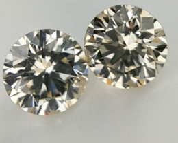 0.244 ct , Pair Round Diamonds , Light Color Diamonds , WR1206