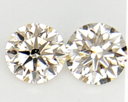 0.274 cts , Pair Round Diamonds , Light Color Diamonds , WR1207