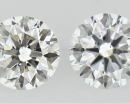 0.275 ct , Pair Round Diamonds , Light Color Diamonds , WR1209