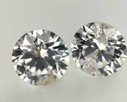 0.266 cts  , Pair Round Diamonds , Light Color Diamonds , WR 1210