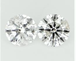 0.266 cts  , Pair Round Diamonds , Light Color Diamonds , WR 1210
