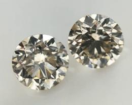 0.261  ct , Pair Round Diamonds , Light Color Diamonds , WR1211