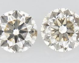 0.261  ct , Pair Round Diamonds , White Diamonds , WR1211