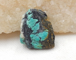 33cts Nugget Turquoise Pendant ,Handmade Gemstone ,Side Drilled G58