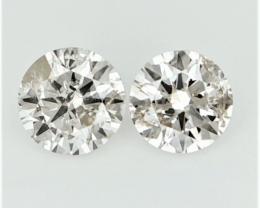 0.266 , Pair Round Diamonds , Light Color Diamonds , WR1213