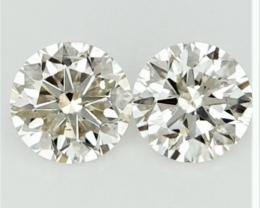 0.27 ct , Pair Round Diamonds , Light Color Diamonds , WR1214