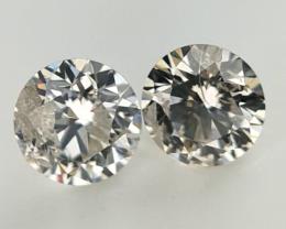 0.263 ct , Pair Round Diamonds , Light Color Diamonds , WR1215