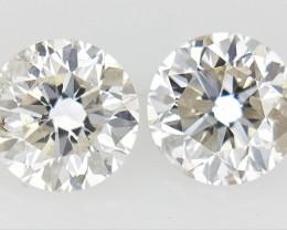 0.29 ct , Pair Round Diamonds , Light Color Diamonds , WR1216