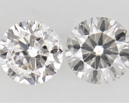 0.26 , Pair Round Diamonds , off White  Diamonds , WR1217