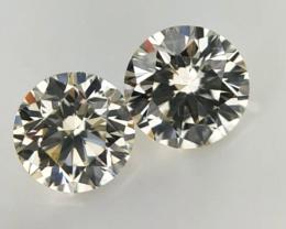 0.33 ct , Pair Round Diamonds , Light Color Diamonds , WR1219