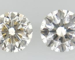 0.33 ct , Pair Round Diamonds , Light  Diamonds , WR1219