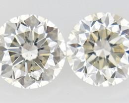 0.30 ct , Pair Round Diamonds , Light Color Diamonds , WR1221
