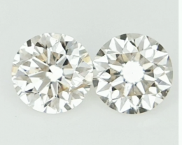 0.305 ct , Pair Round Diamonds , Light Color Diamonds , WR1223