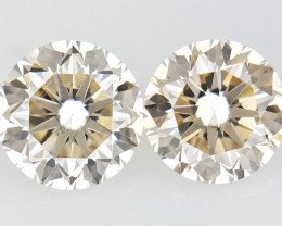 0.345 ct , Pair Round Diamonds , Light Color Diamonds , WR1224