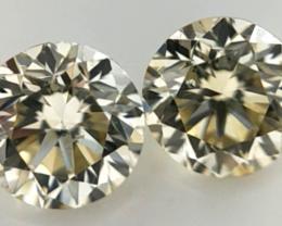 0.435 cts , Pair Round Diamonds , Light Color Diamonds , WR1225